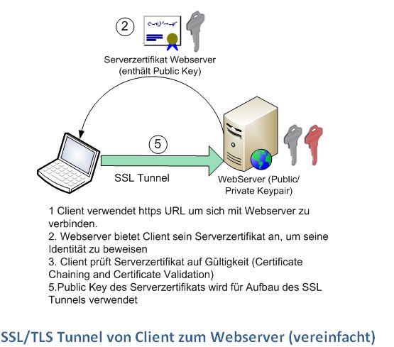 ssl tunnel client to webserver